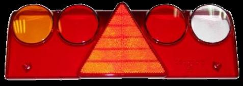611457 Стекло L фонаря Europoint II с жёлтой вставкой