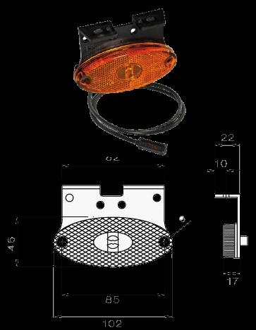 312364037 Боковой LED фонарь 1,5m FLATPOINT II