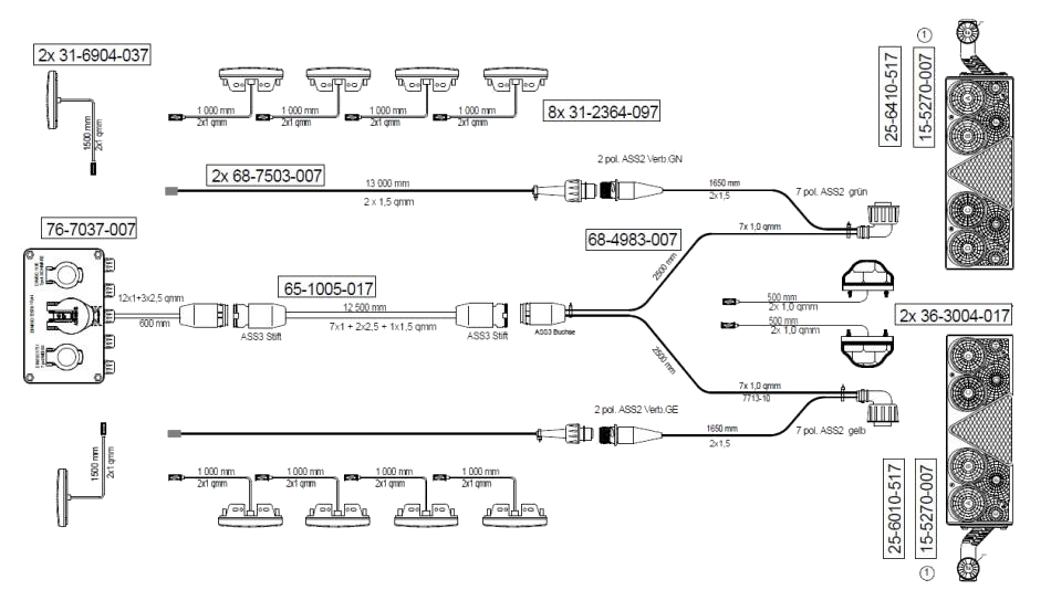 960169061 Кмт электрики на полуприцеп UNIVERSAL II