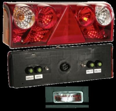 256201507 Задний L фонарь 5pin, с подсветкой номера Europoint II
