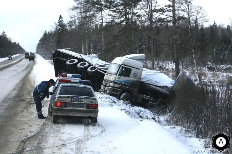 Актрос зимой на трассе М7