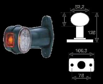 098241031 Фонарь LED полного габарита прямой