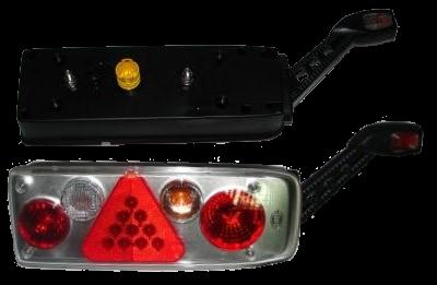 6604331 Задний фонарь правый с рогом Kogel разъём HELLA