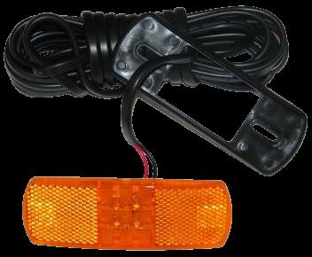 098221605 Габаритный 4 LED фонарь жёлтый с кабелем