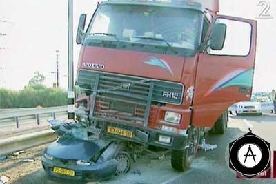 грузовик раздавил целую семью