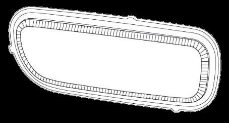 690910 Стекло R противотуманки AXOR MP II