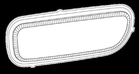690911 Стекло L противотуманки AXOR MP II