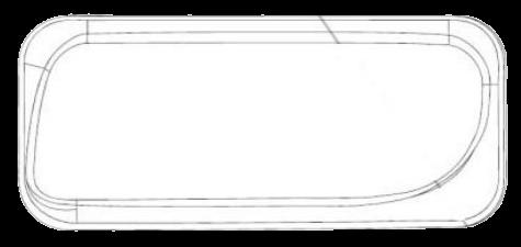 690914 Стекло L противотуманки ACTROS II