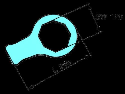 0333905020 Ключ крышки ступицы ECO Plus2