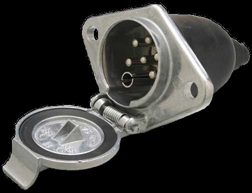 D10874 Розетка 24V 6+1pins Type S вспомогат металл