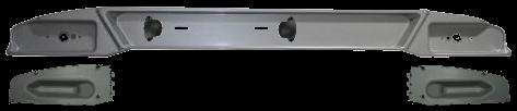 6609689 Бампер пластиковый с заглушками и LED подсветкой номера