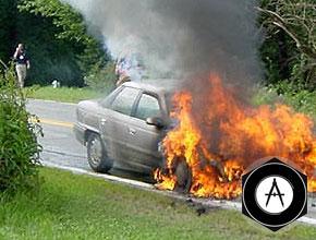 пожар моторного отсека