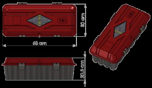 845019 Ящик для огнетушителя 6-9кг
