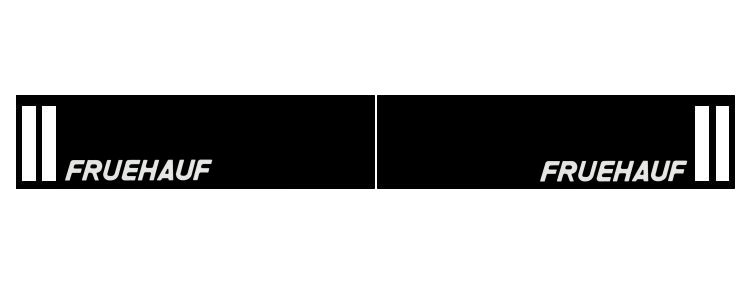 Intertruck. 350381121. Брызговик 2400mm бампера с логотипом FRUEHAUF к-т 2 шт
