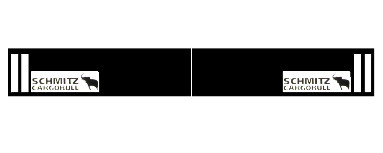 350381117 Брызговик SCHMITZ 2400mm СВЕТООТРАЖАЮЩИЙ  к-т 2шт