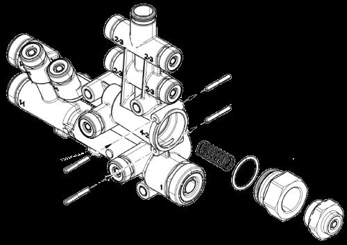 4615130210 Пневматический модуль к модулятору TEBS-E