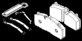 3057009600 Колодки тормозные SAF HALDEX MODUL X/S