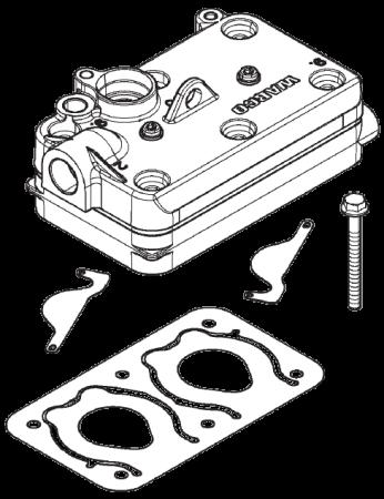 4127049322 ГБЦ компрессора в сборе Wabco