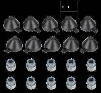 101043 Кмт колпачков 38mm и ключей развода суппорт