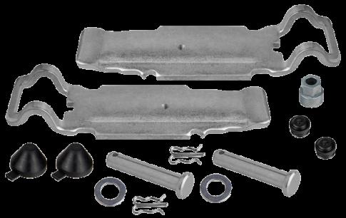 15780 Установочный комплект колодок суппорта KNORR
