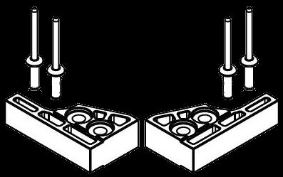 4038064980 Кмт 2шт стопоров сдвижной каретки CS UL II