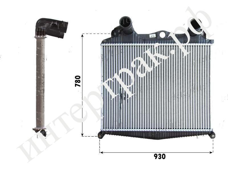 8ML376724221 Интеркулер системы охлаждения 685x892x66 MAN TGA (BEHR)