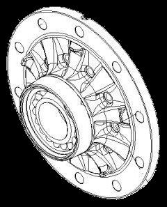 3307304300 Ступицы в сборе с кольцом ABS SAF S9-42