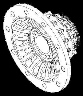3307304500 Ступица колеса в сборе BI9-22, BA9-22, BINL9-22 INTEGRAL
