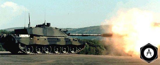 выстрел из MBT Challenger