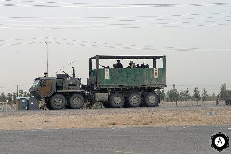 передвижной блок-пост Ирак