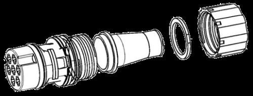 7888001 Соединение-коннектор к фонарю HELLA EasyConn 7 pin