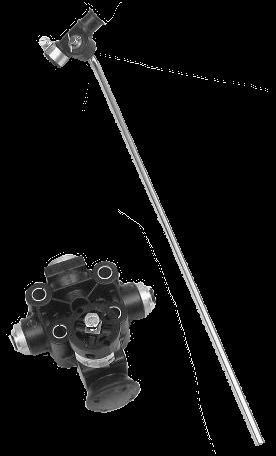 612035051 Кран уровня пола Haldex, фитинги 8mm