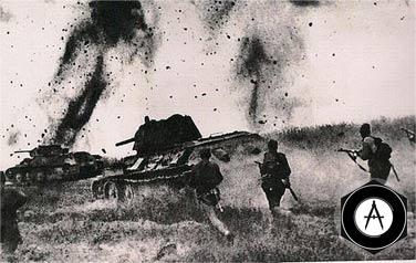 атака Т-34 и пехоты 1943