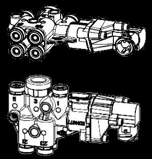 K015384 Кран подъемной оси