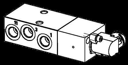 K035570 Кран подъема оси
