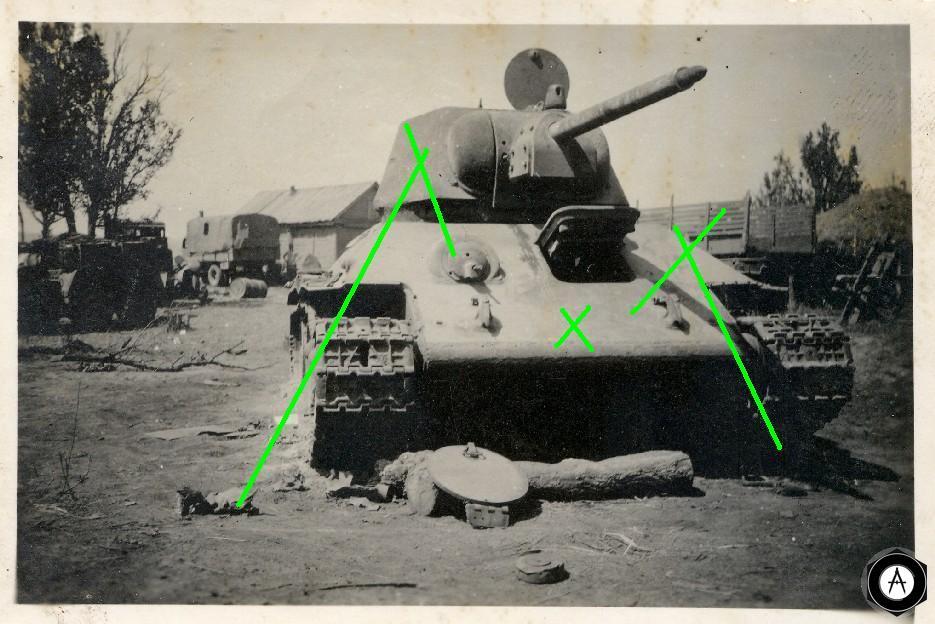 захваченный Т-34-76