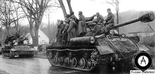 ИС-2 на марше 1945