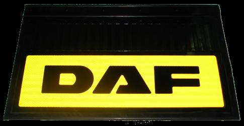 82556 Кмт 2шт DAF светоотражающих брызговиков Жёлтый 580x360mm
