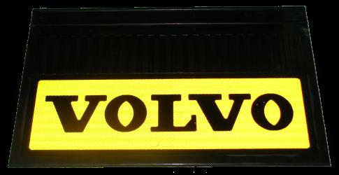 82558 Кмт 2шт  VOLVO светоотражающих брызговиков Жёлтый 580x360mm