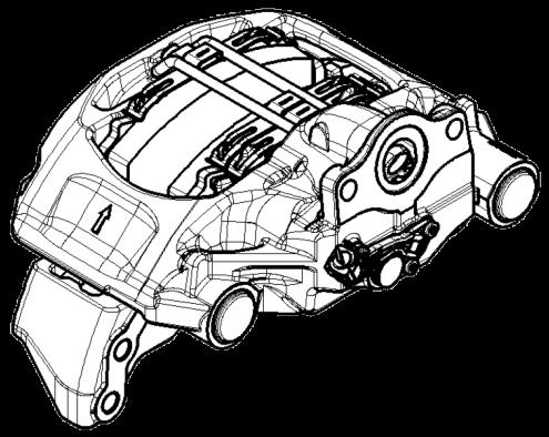 6403220040 Суппорт перений левый WABCO MAXX 22