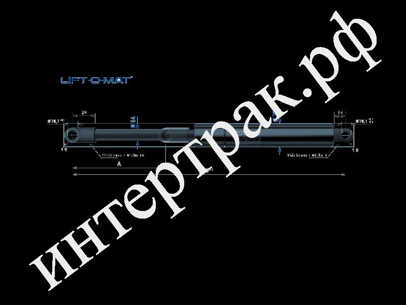 Амортизатор крышки капота(багажника) LIFT-O-MAT 200Х502 1300N  D10/D10