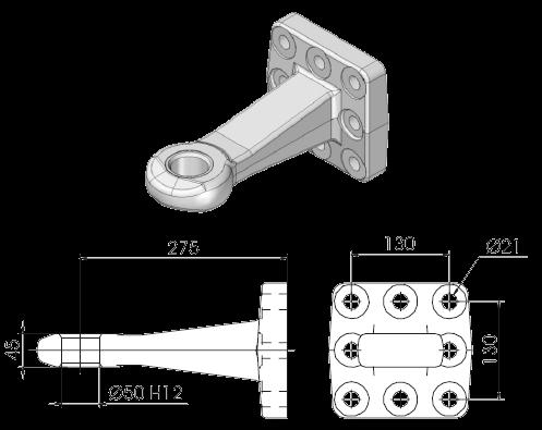 OC52F8E Проушина для сцепного устройства