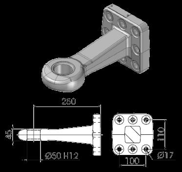 OC50F60 Проушина для сцепного устройства