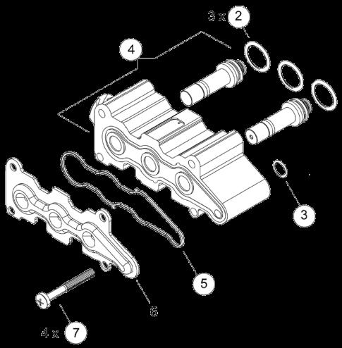 4324259202 Соленоид осушителя ECAD Volvo
