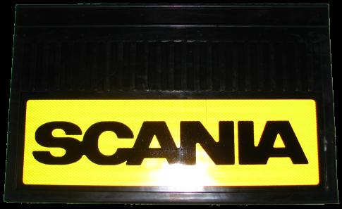 82559 Кмт 2шт SCANIA светоотражающих брызговиков Жёлтый 580x360mm