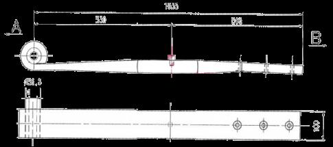 F412Z702ZA75 Полурессора однолистовая ROR SAMRO