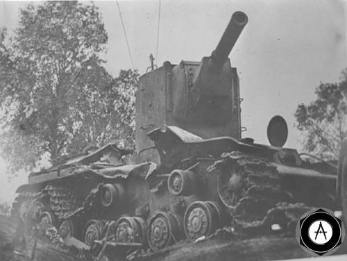 подбитый КВ-2 1941