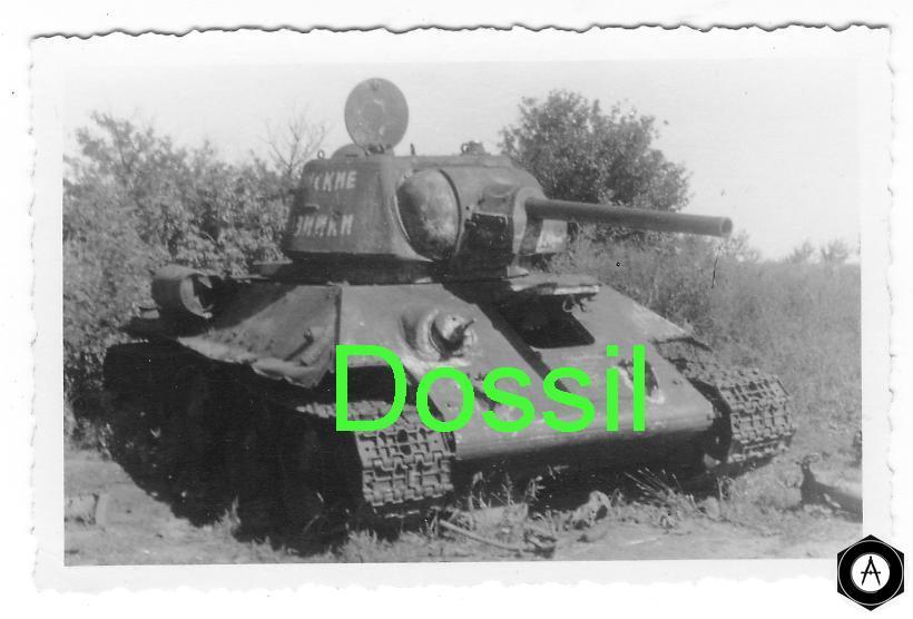подбитый Т-34 из немецких архивов