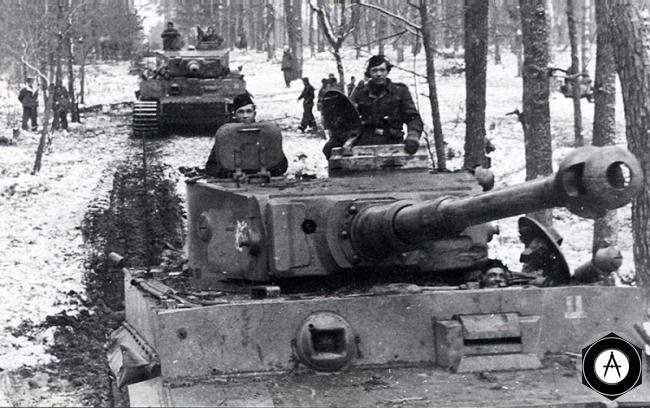 подразделение Т-VIH Тигр выходит на позиции 1944