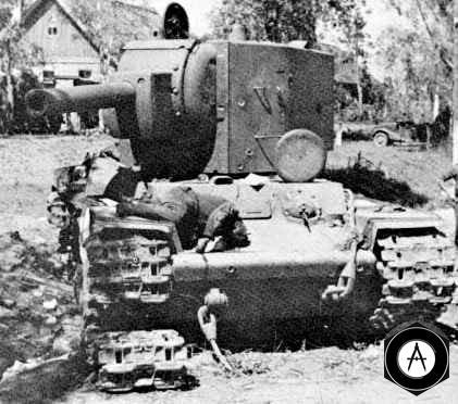 разбитый КВ-2